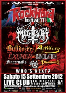 aROCK HARD FESTIVAL ITALIA 2012: data, location, e prime conferme