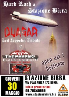 aQUASAR + THE WARPIGS + HELLBOW -  30/5/2013 @ STAZIONE BIRRA - ROMA