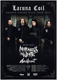 Lacuna Coil + Motionless in White + Devilment